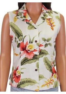 Гавайская блузка без рукава