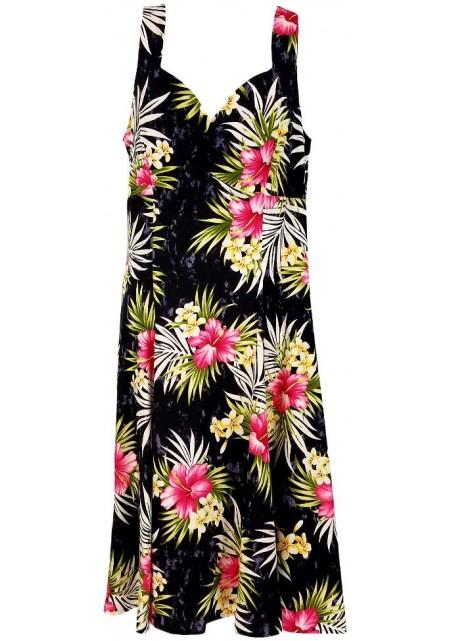 Гавайское женское короткое платье