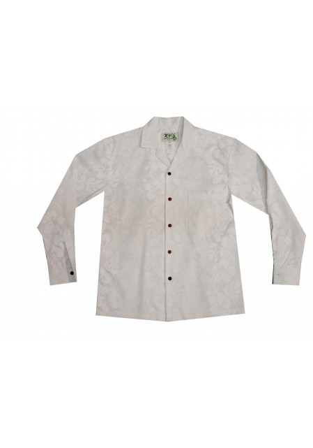 Гавайская мужская рубашка с длинным рукавом