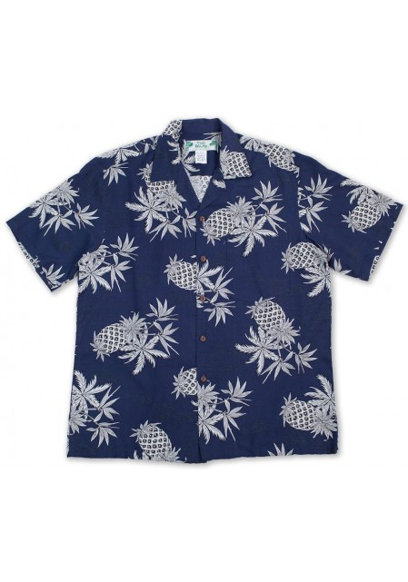 Гавайская рубашка Pineapple Map Navy
