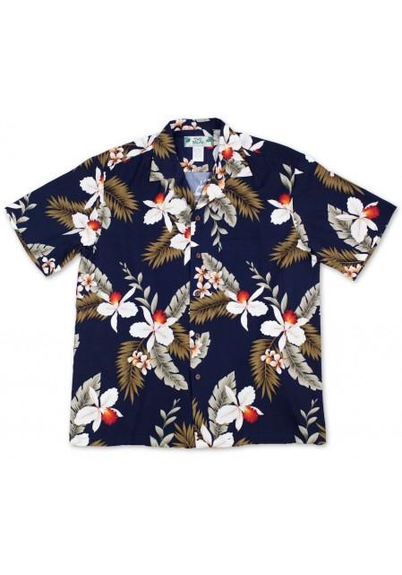 Гавайская рубашка Orchid Navy